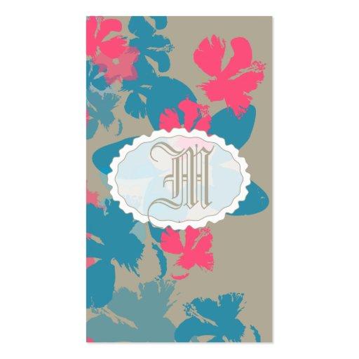 Jardín floral plantilla de tarjeta de negocio