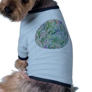 Jardín mágico verde - plantilla adaptable camiseta con mangas para perro