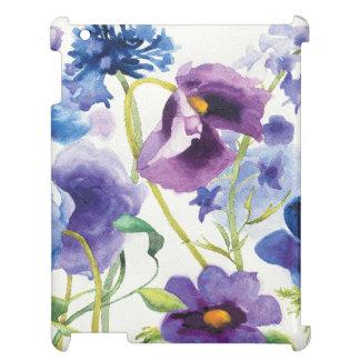 Jardín mezclado azul y púrpura