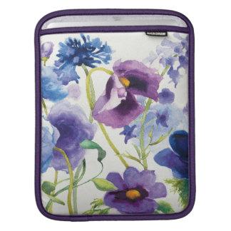 Jardín mezclado azul y púrpura funda para iPad