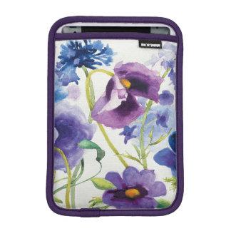 Jardín mezclado azul y púrpura funda para iPad mini
