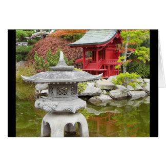 Jardín oriental tarjeta de felicitación