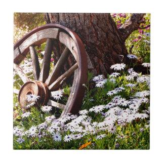 Jardín pacífico azulejo de cerámica