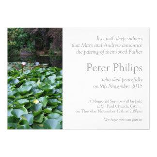 Jardín pacífico - invitación fúnebre