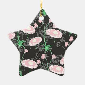 Jardín secreto #4 adorno navideño de cerámica en forma de estrella