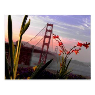 Jardín view1 de puente Golden Gate Postal