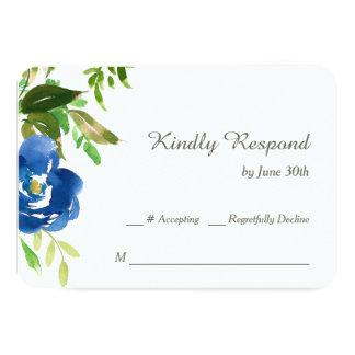 Jardín violeta azul que casa RSVP Invitación 8,9 X 12,7 Cm