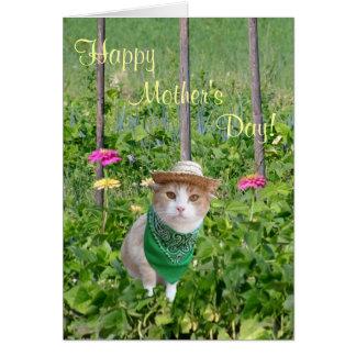 Jardinero adaptable del día de madre del amante tarjeta de felicitación