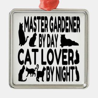 Jardinero del amo del amante del gato adorno de cerámica