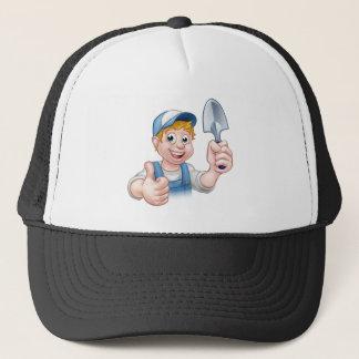 Jardinero del dibujo animado gorra de camionero
