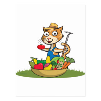 Jardinero del gato tarjetas postales