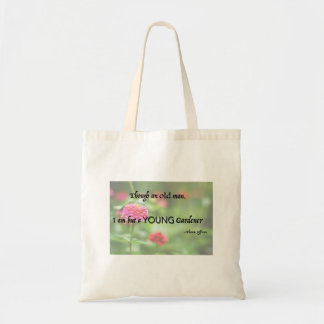 Jardinero joven bolsa tela barata