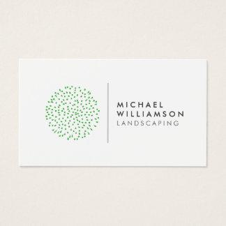 Jardinero moderno que ajardina el logotipo en tarjeta de negocios