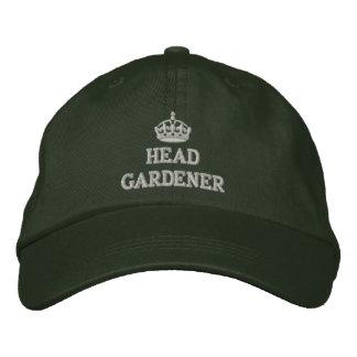 Jardinero principal con la corona gorra bordada