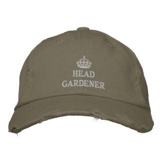 Jardinero principal con la corona gorras de béisbol bordadas