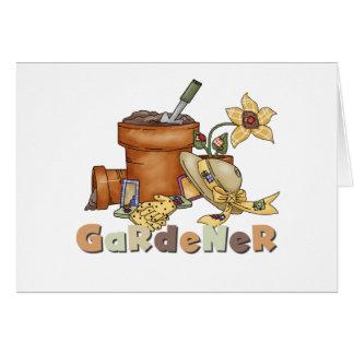Jardinero Tarjeta De Felicitación