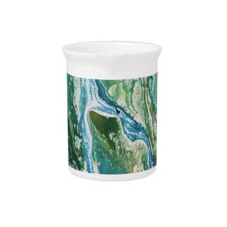 Jarra Cascada azulverde abstracta colorida de la
