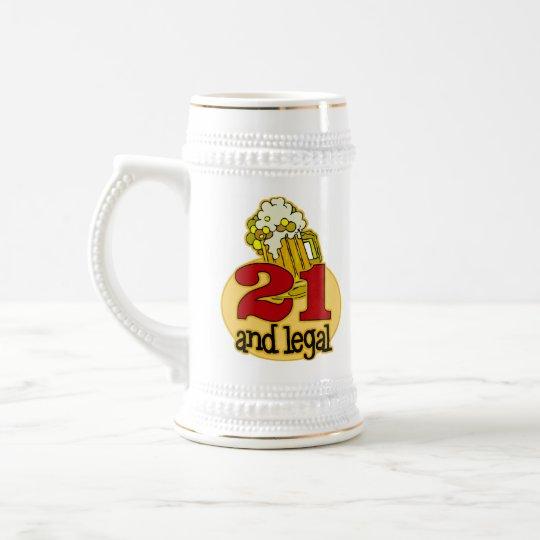 Jarra De Cerveza 21ro regalo de cumpleaños divertido