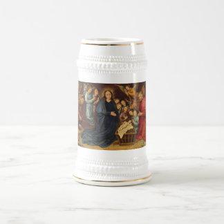 Jarra De Cerveza Adoración de los pastores Stein