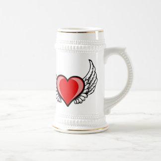 Jarra De Cerveza amor con las alas