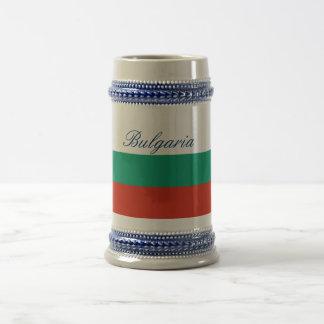 Jarra De Cerveza Bandera de Bulgaria o del búlgaro