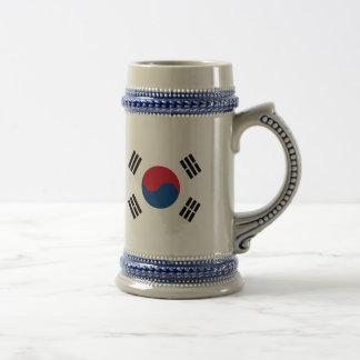 Jarra De Cerveza Bandera de la Corea del Sur