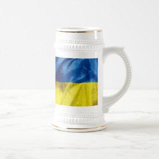 Jarra De Cerveza Bandera de Ucrania