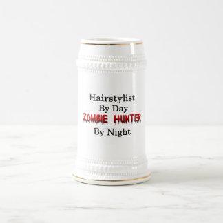 Jarra De Cerveza Cazador del Hairstylist/del zombi