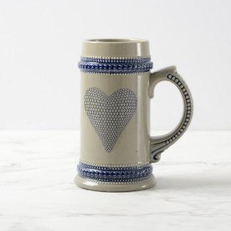 Jarra De Cerveza Corazón azul Stein
