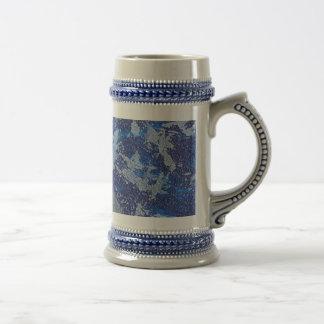 Jarra De Cerveza Cosmos azul #3