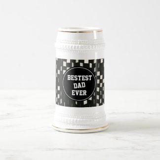 Jarra De Cerveza De Bestest del papá el día de padre nunca -