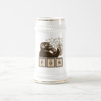 Jarra De Cerveza Diversión descubierta mono de la química