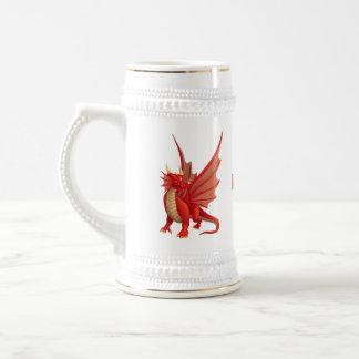 Jarra De Cerveza Dragón rojo Stein