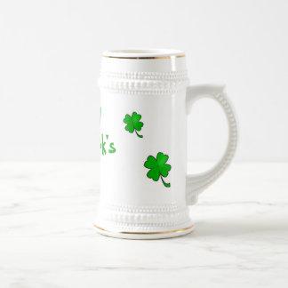 Jarra De Cerveza El día Stein de St Patrick