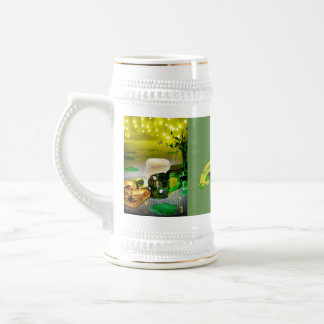 Jarra De Cerveza El día Stein de St Patrick elegante