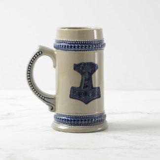 Jarra De Cerveza El Martillo-Mjölnir del Thor en Stein gris/azul