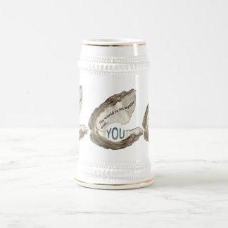 Jarra De Cerveza El mundo es su ostra y usted es la perla