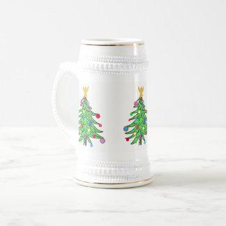 Jarra De Cerveza El navidad Stein asalta personalizado del árbol de