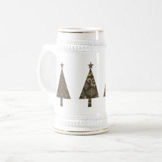 Jarra De Cerveza Elegante con clase elegante blanco de oro del