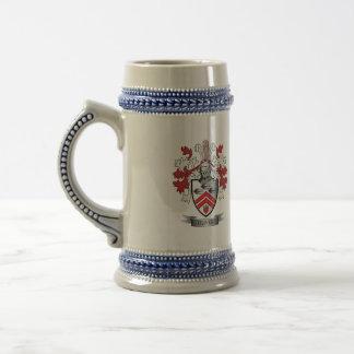 Jarra De Cerveza Escudo de armas del escudo de la familia de