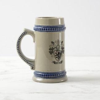 Jarra De Cerveza Escudo de armas del escudo de la familia de Owen