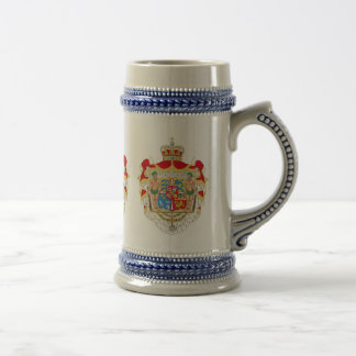 Jarra De Cerveza Escudo de armas real danés del vintage de