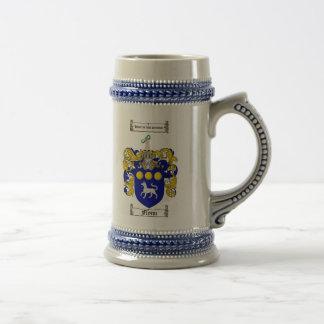 Jarra De Cerveza Escudo de armas Stein de Flynn/escudo de la