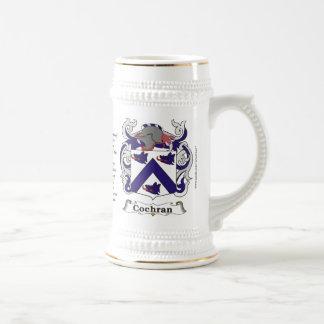 Jarra De Cerveza Escudo de armas Stein de la familia de Cochran