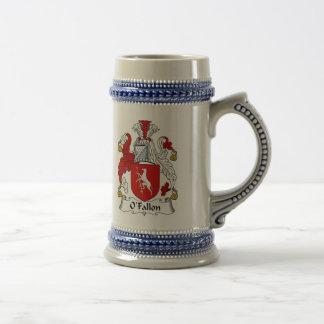 Jarra De Cerveza Escudo de armas Stein - escudo de O Fallon de la