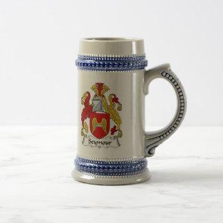 Jarra De Cerveza Escudo de armas Stein - escudo de Seymour de la
