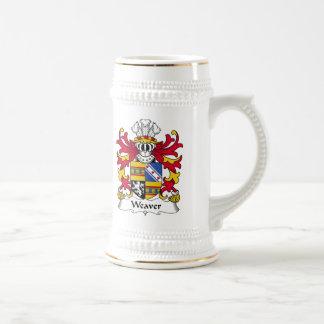 Jarra De Cerveza Escudo de la familia del tejedor