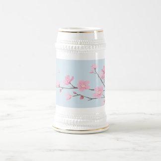 Jarra De Cerveza Flor de cerezo - Transparente-Fondo