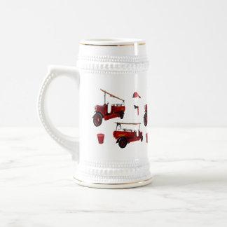Jarra De Cerveza Gorra rojo del hacha del casquillo del camión de