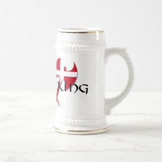 Jarra De Cerveza Hacha de la bandera de Viking Dinamarca del danés